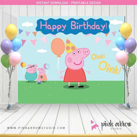backdrop design happy birthday peppa pig birthday peppa pig backdrop peppa pig banner