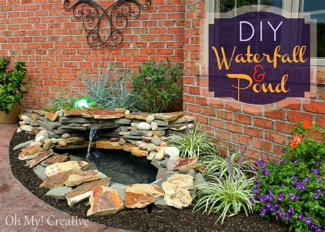backyard feature ideas diy backyard pond landscape water feature oh my creative