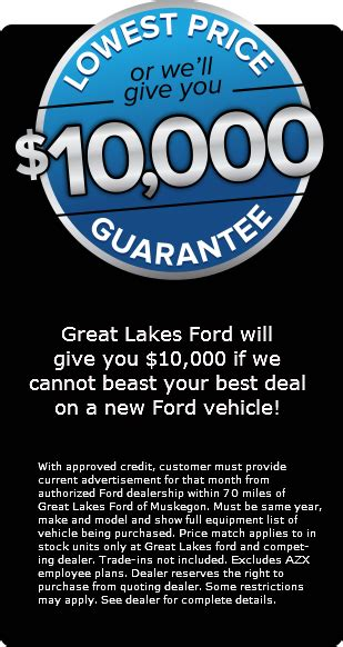 Great Lakes Ford Muskegon by Great Lakes Ford Lincoln Of Muskegon Ford Dealership In