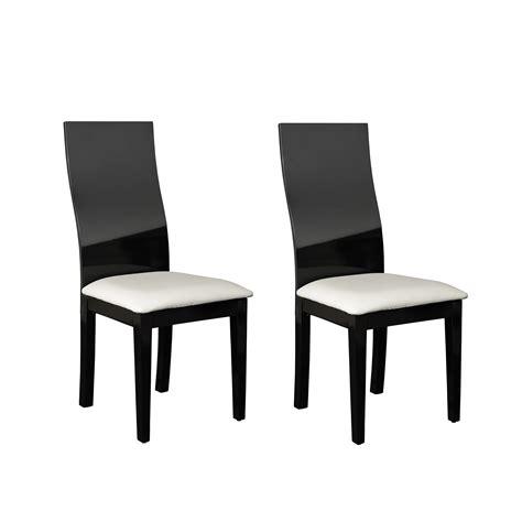chaise noir et blanc chaise salle a manger noir et blanc