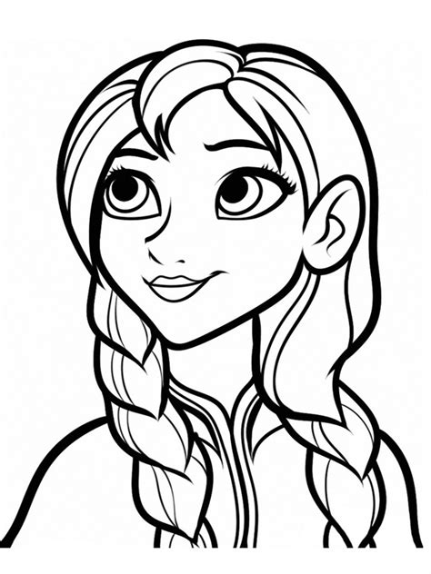 girl face kids coloring pages gianfreda net