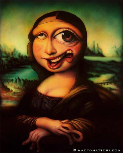 Weird Home Decor by Mona Lisa Gets Morphed In This Funny Surrealism Painting