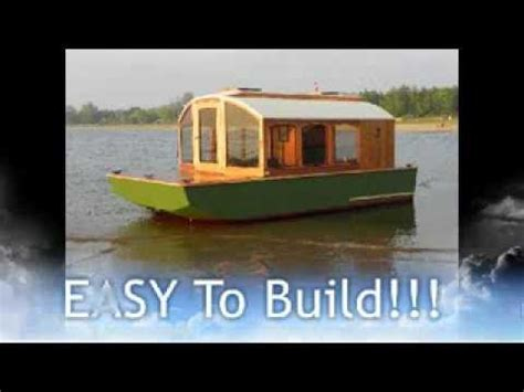 cheap house boats cheap houseboat you can build dianne s rose youtube