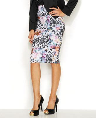 Midi Maxi Thalia thalia sodi mixed print scuba pencil skirt fashion