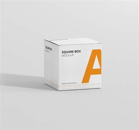 mockup design box box mockup square premium and free mockups for your project