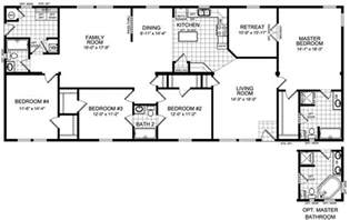 Modular Homes 4 Bedroom Floor Plans by Modular Home 3 Bedroom Modular Home Plans