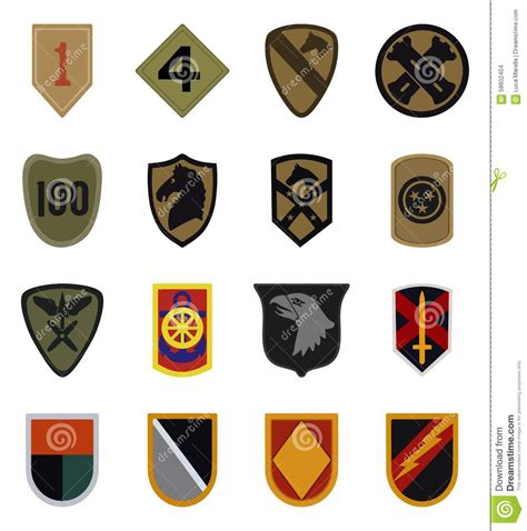 military patches vector stock vector image 58602404