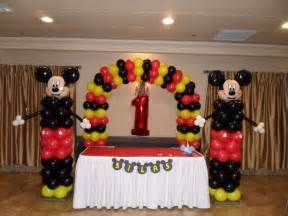 mickey mouse balloon decoration favors ideas