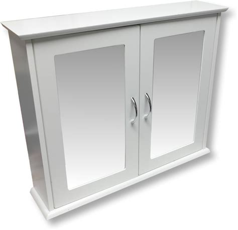 White Mirrored Bathroom Cabinet Mirrored Bathroom Cabinet Ebay