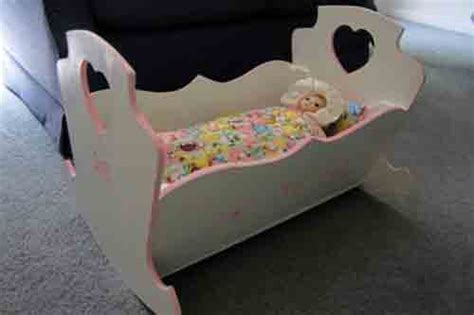 doll cradle plans easy build  sizes print ready