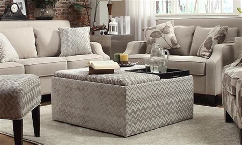 how to use ottoman as coffee table using ottoman for coffee table rascalartsnyc