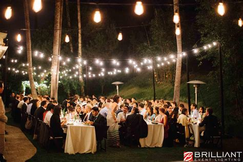 Outdoor Wedding String Lights Market Lights And Vintage Edison String Lights At Outdoor Wedding