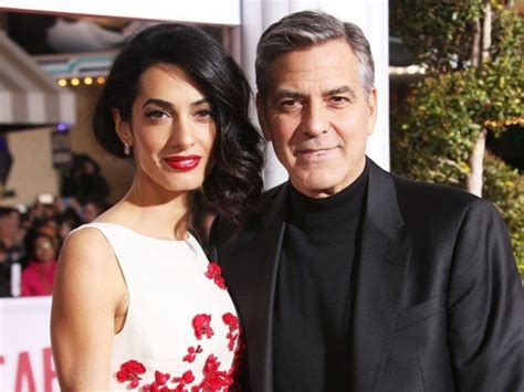 actor george clooney wife actor george clooney and wife amal expecting twins news