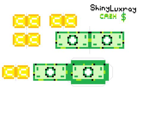 Roblox Papercraft - papercraft money