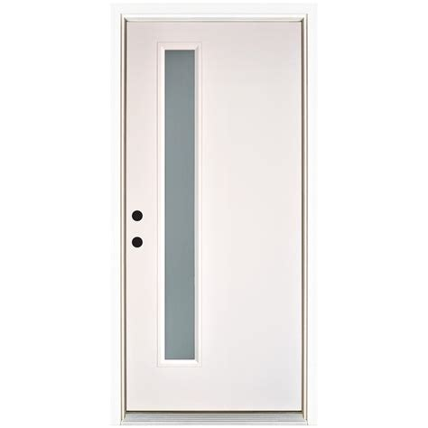 narrow doors and narrow home office with gray bi