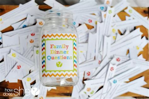 questions for a dinner free printable family dinner questions chickabug