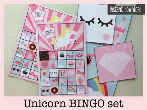 printable unicorn bingo unicorn bingo unicorn party games bingo printable unicorn