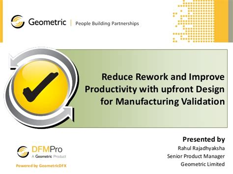 design for manufacturing slideshare reduce rework and improve productivity with upfront design