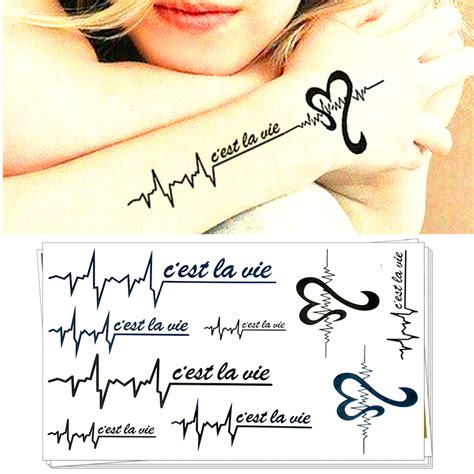 tattoo flash c est quoi aliexpress com buy m theory quot c est la vie quot temporary