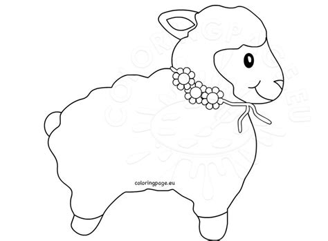 sheep outline coloring page lamb outline sheep clip art coloring page