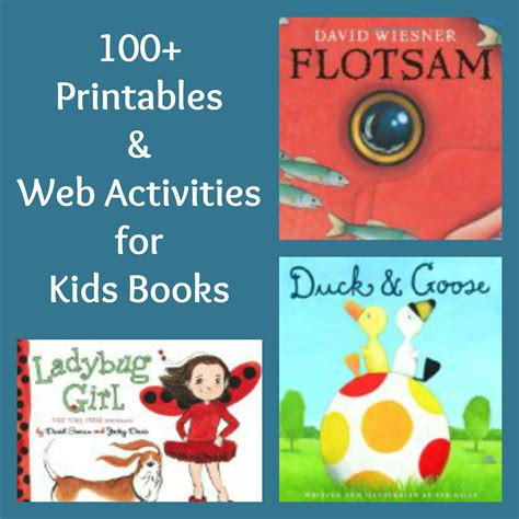 picture books free 100 free printables activities for books free