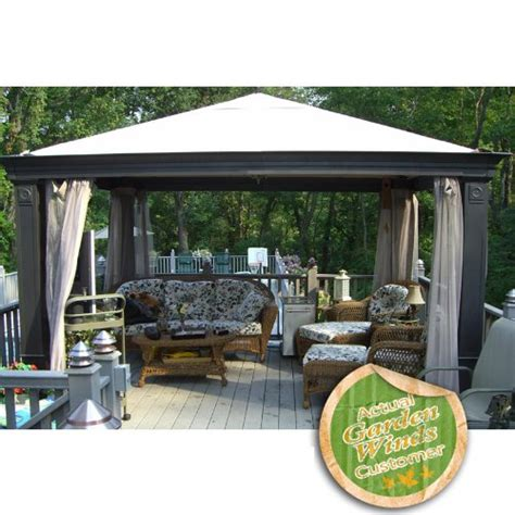 Patio Canopy Gazebo Tiverton Replacement Canopy Series 0 Beige Outdoor Canopies Patio And Furniture
