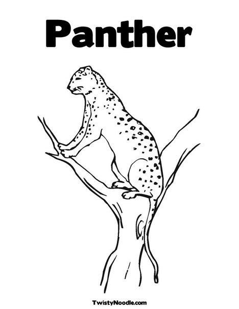 free coloring pages of carolina panther