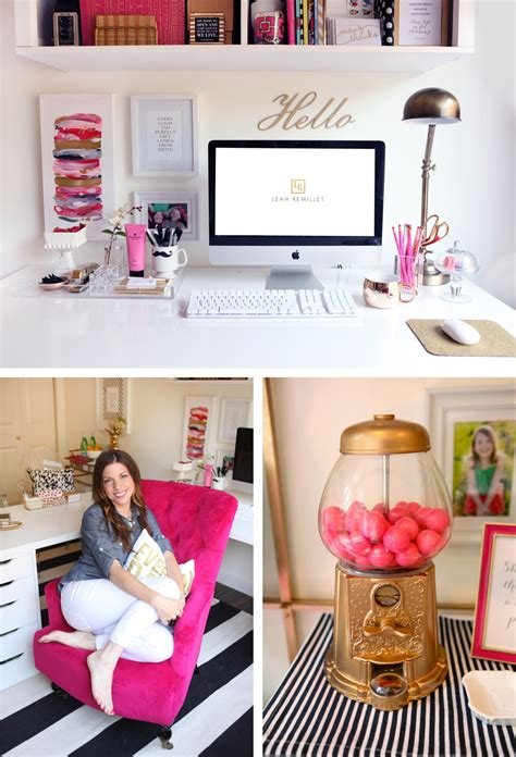 Office Desk Decor My Black White Gold Magenta Office Reveal How I Designed It Remill 233 T