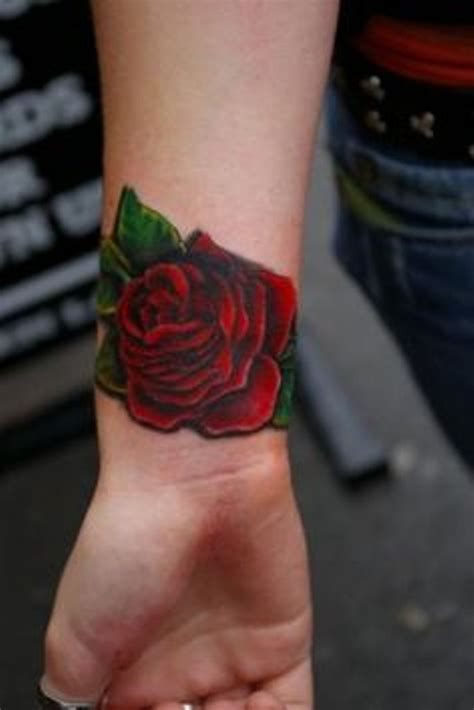 dark red rose tattoo 52 wrist tattoos