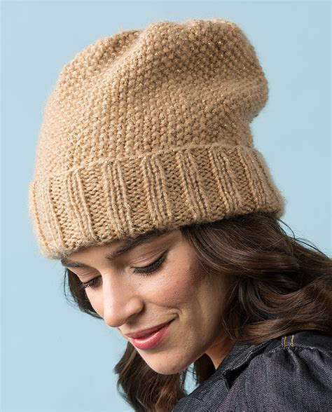 seed stitch knit hat pattern more one skein knitting patterns in the loop knitting