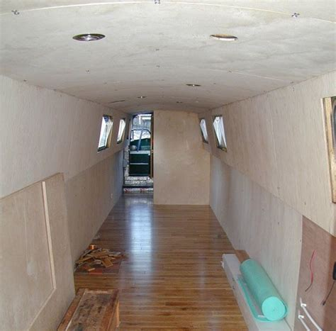 narrow boat flooring insulating flooring and lining out iron maiden