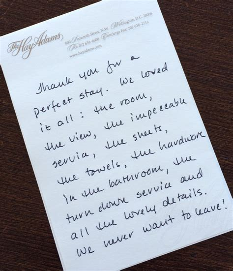 Thank You Letter Upon Leaving Heavenly Details The Hay Hotel The Artful Lifestyle