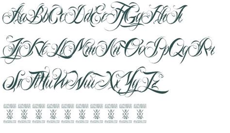 tattoo font sle generator 8 gangster cursive fonts images tattoo graffeti letters