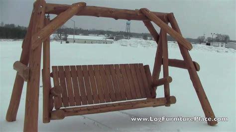 cedar lake massive cedar log swing  logfurnitureplacecom youtube