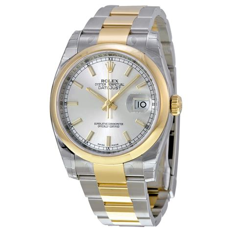 Rolex Silver rolex datejust silver automatic stainless steel and