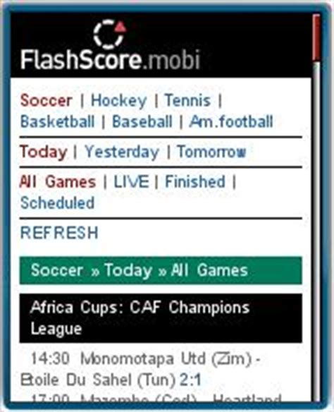 flash score mobile found on the mobile web 172 wap review