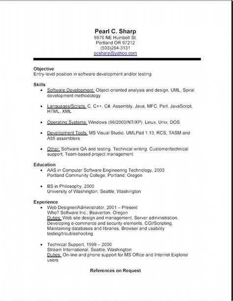 exles of resumes 10 how to write a simple resume sle budget template letter with regard
