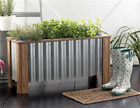 Corrugated Iron Planter Boxes by Diy Planter Box Plans Planters Corrugated Metal