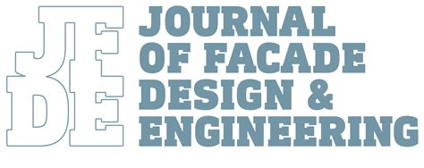 design for manufacturing journal journal of facade design and engineering