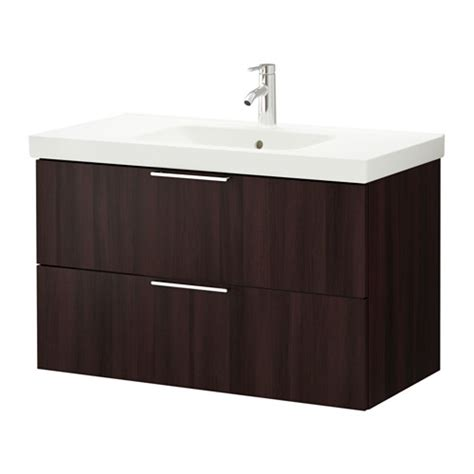 Ikea Bathroom Sinks And Vanities Godmorgon Odensvik Sink Cabinet With 2 Drawers Black