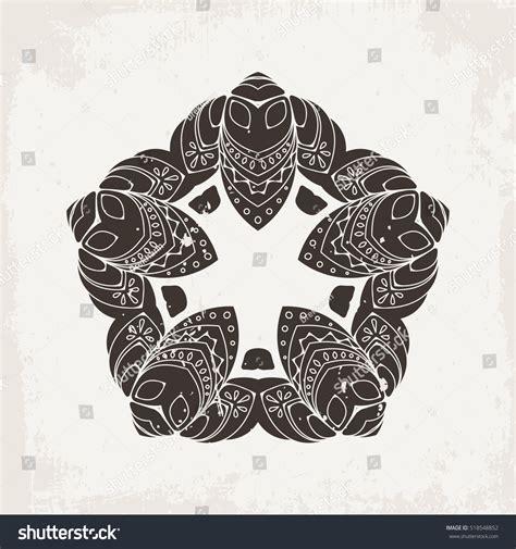 tattoo mandala oriental vector mandala mehndi lace tattoo oriental stock vector