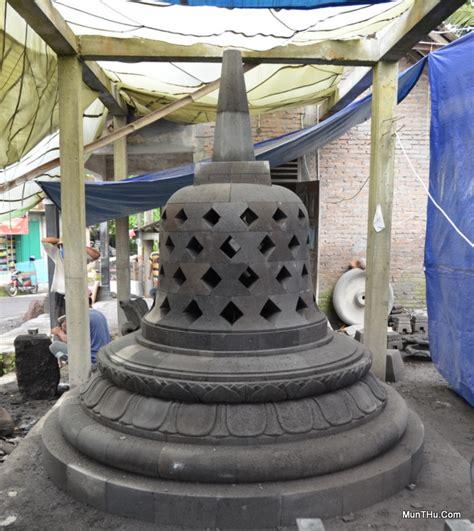 Miniatur Stupa Candi Borobudur Ukuran Mini Batu Candi Hitam Asli Jogja pemasangan stupa candi borobudur munthu