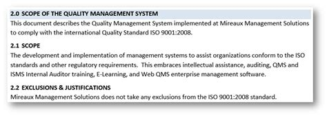 Scope Document Iso 27001 Iso 9001 2015 Scope Template
