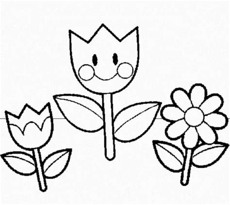 spring flowers coloring pages kids ekids pages free
