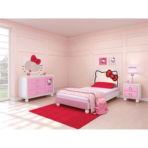 twin bed and dresser set hello kitty 6 piece twin bedroom set