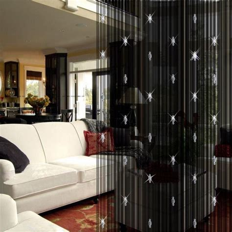 Curtains To Divide Room Amusing Black Curtain Dividing Room With Modern Partition Design With Sectional Sofa And