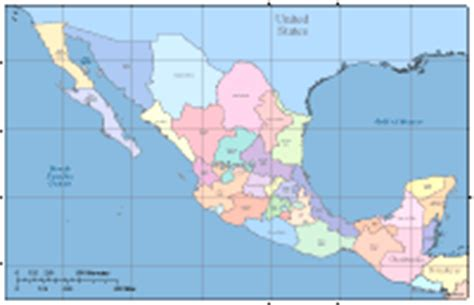 map of mexico and surrounding countries editable mexico map with states surrounding countries