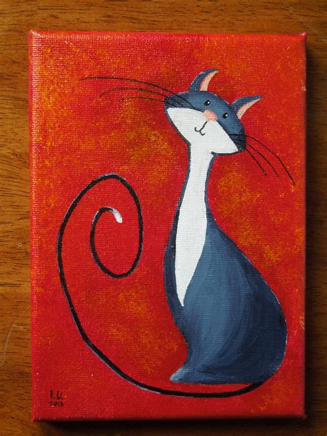 easy painting cat look at my new cat painting virtuous cat in