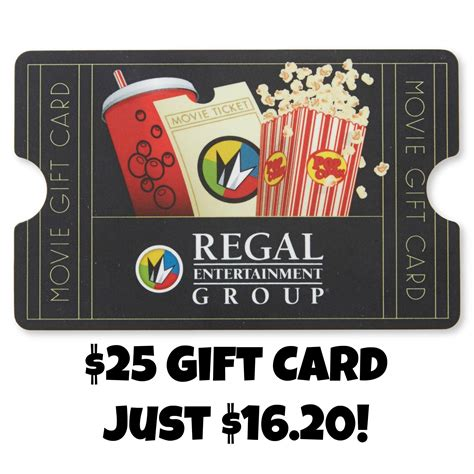 Regal Cinemas Gift Card Online - 25 regal cinemas gift card just 16 20