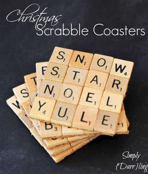 Scrabble Tile Coasters Simply Darr